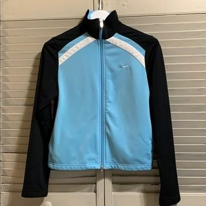 Nike Zip Up Black and Baby Blue Lightweight Jacket